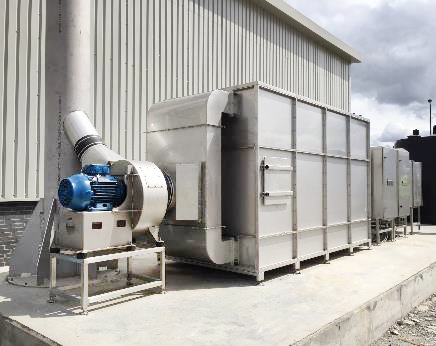 Abluftreinigung Biogasanlage