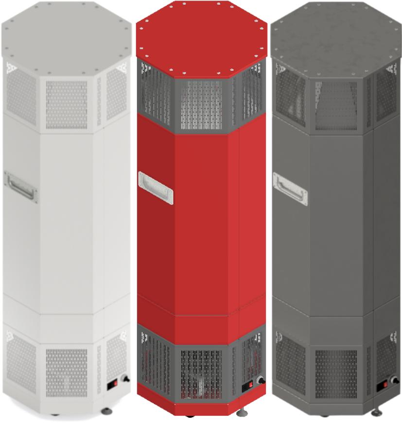 Dies ist eine beispielhafte Farbauswahl für unsere Luftdesinfizierungstechnologie der CVOx Box